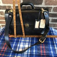 RARE VINTAGE 1980s MARINO ORLANDI BLACK LEATHER MACBOOK BRIEFCASE BAG R$1298