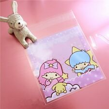 Plastic Resealable Biscuit Bags Two Children Self-Adhesive About 100pcs
