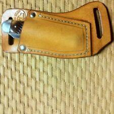 Custom Horizontal Carry Knife Sheath  Case Trapper Puma Trapper Tan