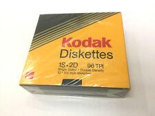 """KODAK 10 DISQUETTES DISK 5.25"""" 5P 1/4 SIMPLE FACE DOUBLE DENSITE NEUF 1S2D"""