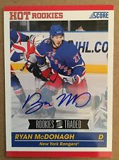 2011 Ryan McDonagh Score Hot Rookies Auto Rookies And Traded