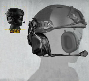 Hunting Tactical Airsoft Paintball Communication Helmet Headset for Guide Rail