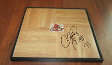 CHANE BEHANAN HAND SIGNED & FRAMED LOUISVILLE CARDINALS LOGO FLOOR TILE W/ COA