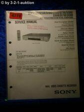 Sony Service Manual SLV SE350 SE500 SE600 SE650 SE700 SE800 SX600 SX700 (#4776)