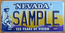 Nevada 1989 125 YEARS OF VISION GRAPHIC SAMPLE License Plate # SAMPLE