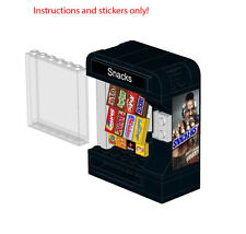 Lego Snack Vending Machine Instructions Stickers Snickers Mars M&Ms Skittles