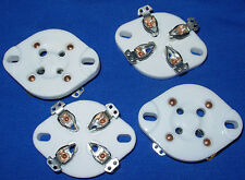 Four New Ceramic 4 pin Vacuum Tube Sockets for 2A3, 10, 45, 71A, 80, 300B, etc