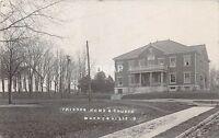 Ohio Postcard Real Photo RPPC 1909 WAYNESVILLE Friends Home & Church Building