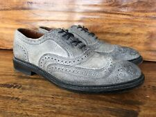 "Men's Allen Edmonds ""Mctavish"" Wingtip Shoes Size 8 D Burnished Gray Leather"