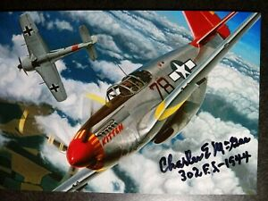CHARLES MCGEE Authentic Hand Signed Autograh 4X6 PHOTO -TUSKEGEE AIRMAN PILOT