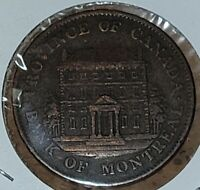 1842 Half Penny Token Province of Canada Bank of Montreal