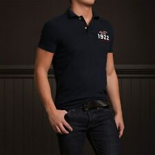 NWT Hollister HCO Men's Logo Muscle Polo S Small Tee Shirt Top Blue Navy NEW