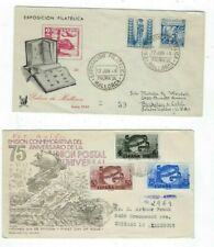 Two 1949 Spain Registered Cacheted Envelopes, to United States incl UPU