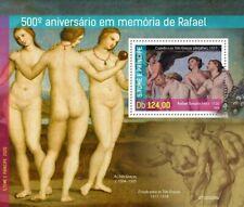 Sao Tome & Principe Art Stamps 2020 MNH Raphael Nudes Nude Paintings 1v S/S
