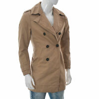 Tiger of Sweden Men's jacket Blazer Double Breasted Trench Coat Size 46 brown