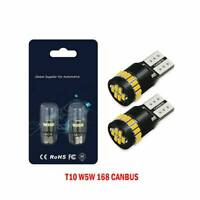 2Pcs 24 LED T10 501 194 W5W SMD Car CANBUS Error Free Wedge Light Bulb White Hot