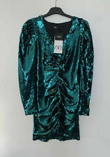 Zara Draped Sequin Dress Size L