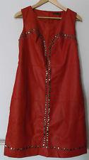 Robe Rouge effet cuir à clous BREAL T.38