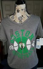 Boston Celtics NBA 4 Her By UNK Graphic Embellished Tee Size XL