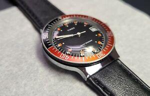 Unusual Vintage 1980 Timex Coke Bezel Watch Manual Wind with date Fully-Serviced