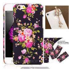 Lightweight Case 3D Flower F iPhone 6+ 6S+ Plus 5.5'' With 2 Anti Dust Ear Cap