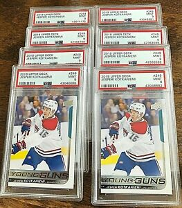 Jesperi Kotkaniemi 2018-19 Upper Deck Young Guns PSA 9 RC Rookie Card  mint
