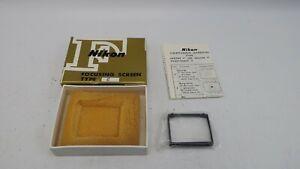 Genuine Nikon F / F2 Focusing Screen Type E Japan w/ Box, And Case