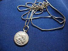 Silver Gardenia Angel Necklace Grandmas Estate 925 Sterling