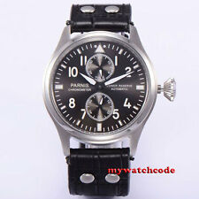 47mm parnis gray dial automatic mens watch power reserve ST 2542  P273B