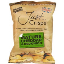 Just Crisps Mature Cheddar & Red Onion Full Case 24x40g
