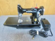 1936 SINGER FEATHERWEIGHT 221-1 Sewing Machine Case, Attachments, Manual Works
