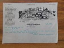 Antique 1903 Rhodes Haverty & Jackson Furniture Carpets Etc Little Rock Arkansas