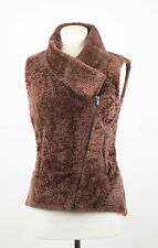 NWT BRUNELLO CUCINELLI Brown Shearling Leather Jacket Coat Vest Size 6/42 $5745