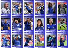 Chelsea Ladies 2015 Womens FA Cup winners football trading cards
