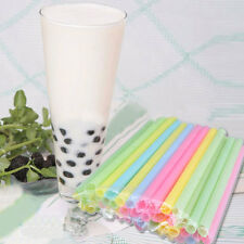 100Pcs Mix Color Large Drinking Straws For Bubble Tea Smoothie Milkshake Party