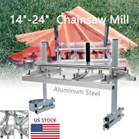 """Portable Chainsaw Mill 14"""" - 24"""" Chain Saw Mill Aluminum Planking Lumber US SHIP"""
