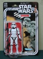 "Star Wars 40th Anniversary Black Series Stormtrooper 6"" Figure MOC Hasbro Disney"