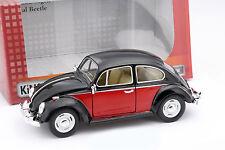 Volkswagen VW Classic Beetle année 1967 noir / rouge 1:24 Kinsmart