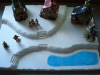 Christmas Village Display Platform J8 For Lemax Dept 56 Dickens North Pole+More