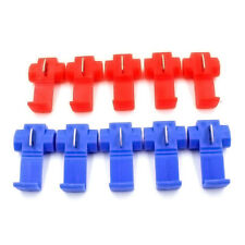 10* Blue Red Scotch Lock Wire Connectors Quick Splice Terminals Crimp Electrical