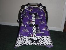 NIGHTMARE BEFORE CHRISTMAS*w/Bows & snap closure Handmade Car Seat Canopy-Cover
