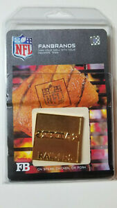 NFL FanBrands Oakland Raiders Logo Branding Plate for Barbecue Grill Accessory