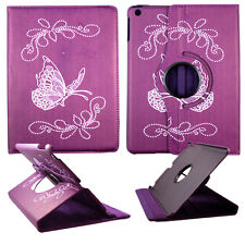 BUTTERFLY PURPLY FOLIO CASE IPAD AIR 5 IPAD 5 360 ROTATING STAND TABLET COVER