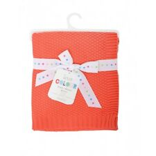 EastCoast Love Colour Coral Baby Blanket