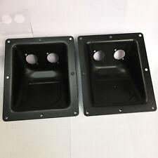 2Pcs Black Large Recessed Dish Plates for Speakon or XLR Connectors 135x161mm