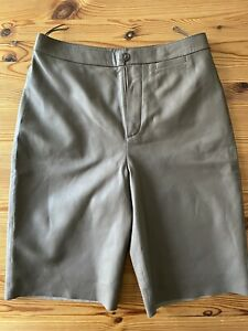STRENESSE Damen Leder-Shorts, Leder-Bermuda, Gr. 34, zartes Lammleder braun