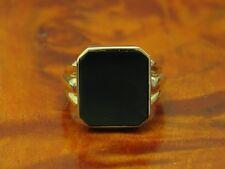 14kt 585 GELB GOLD RING MIT NEPHRIT BESATZ / SIEGELRING / NEPHRITRING / 7,6g.