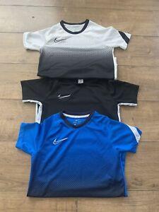Boys Nike Academy T-shirts x3 Age 9-10