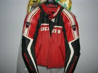 Dainese Ducati Corse Leather Jacket Size 52 With Back/Spinal Protector