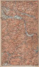 Haute-savoie. chaîne d'aravis albertville sallanches cluses bonneville 1914 carte